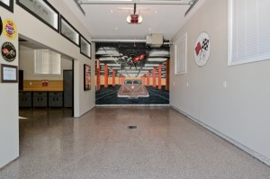 6. Custom Garage with Mural and glass transoms
