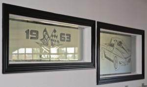 8. Custom Transoms above garage doors