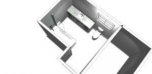 3D design of bathroom